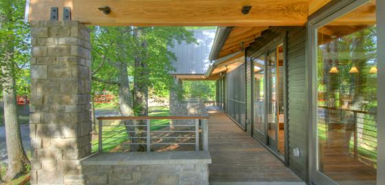 Conception extérieure de maison rurale