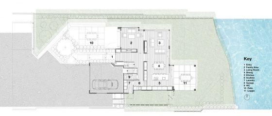 Plan de maison moderne à deux étages