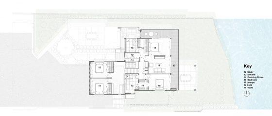 Plan du deuxième étage de la maison