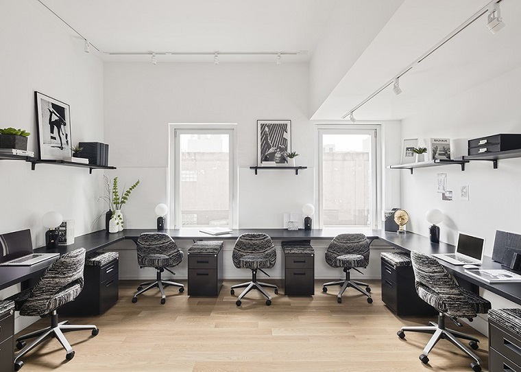 espace de coworking-design-noir-blanc-bureau