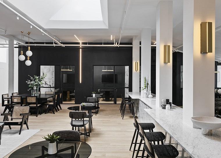 espace de coworking-design-noir-blanc-style moderne