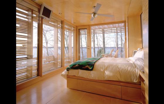Conception de chambre à coucher en bois