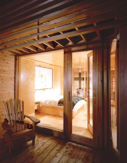 Conception de chambre en bois