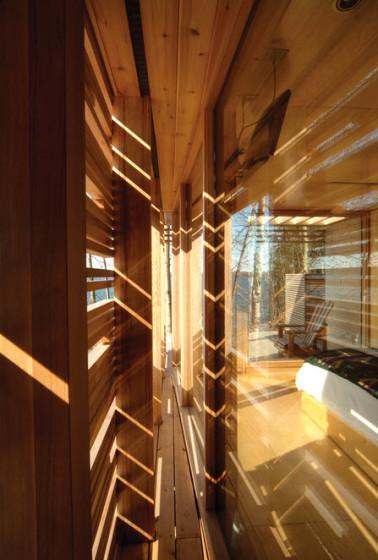 Conception de mur de maison en bois