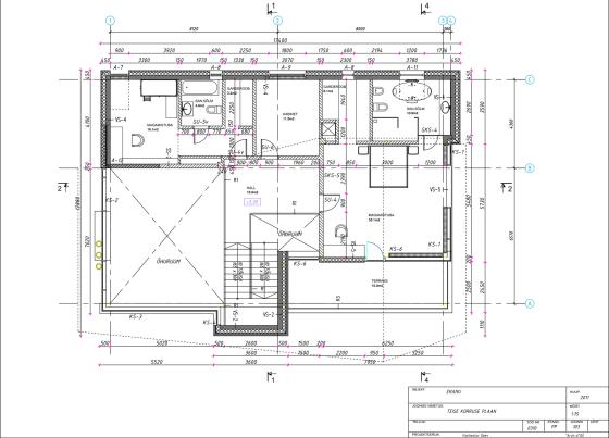 Plans de ferme au deuxième étage