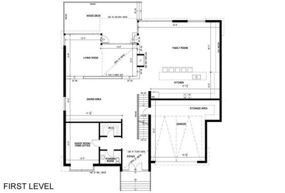 Plan de maison à deux étages