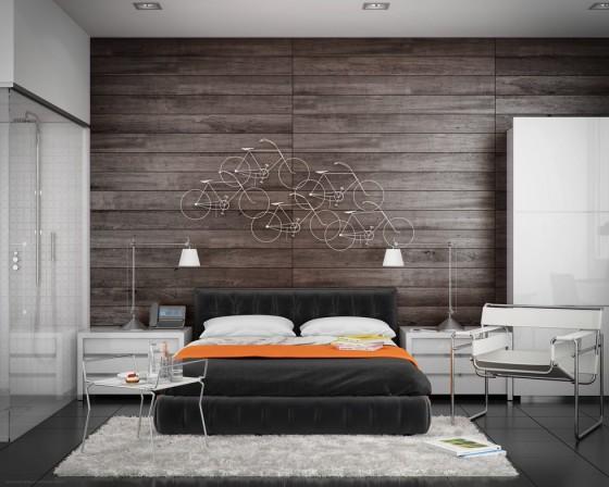 Conception de chambre moderne avec salle de bain