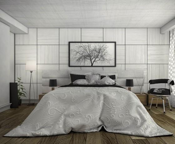 Design de chambre moderne inspiré de la nature
