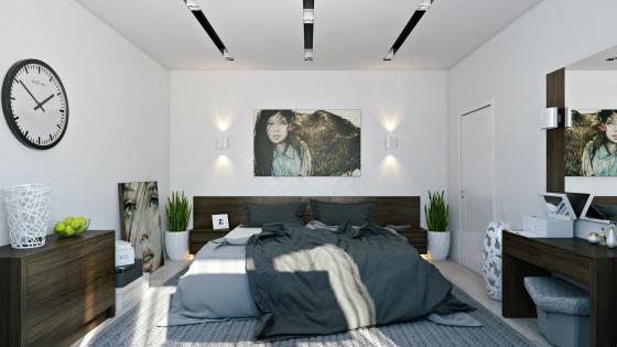 Décoration de chambre moderne de couleur blanche
