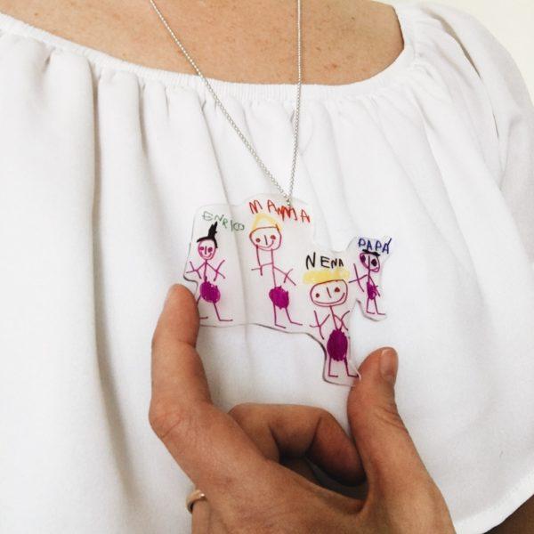 Meilleurs cadeaux pour la fête des mères avec collier en carton