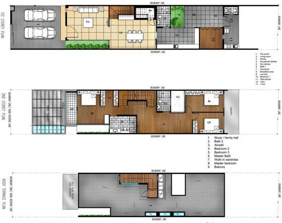 Petits plans de maison à deux étages