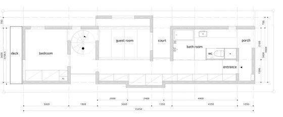 Plan de maison étroit de 5 mètres de large