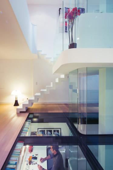Conception transparente de toit en verre feuilleté trempé par maison moderne