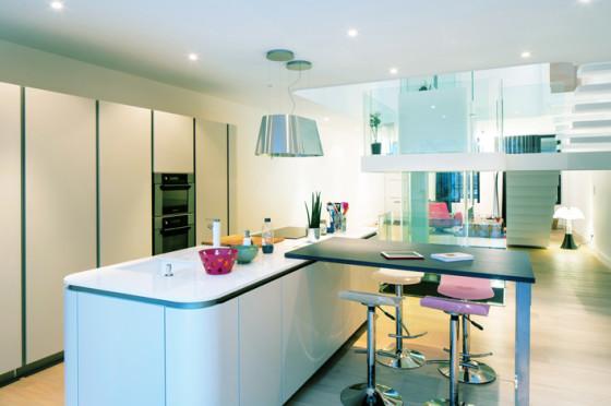 Conception de cuisine à la maison moderne