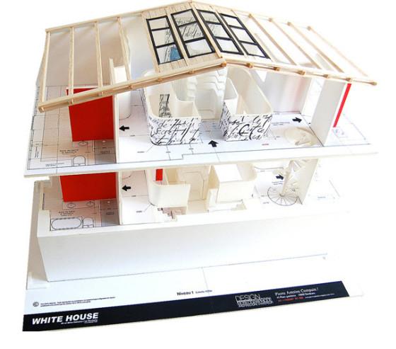 Conception de maquette de design d'intérieur moderne