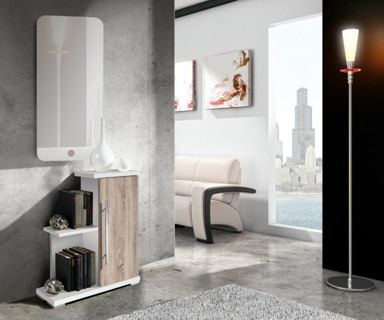couloirs modernes en bois-béton