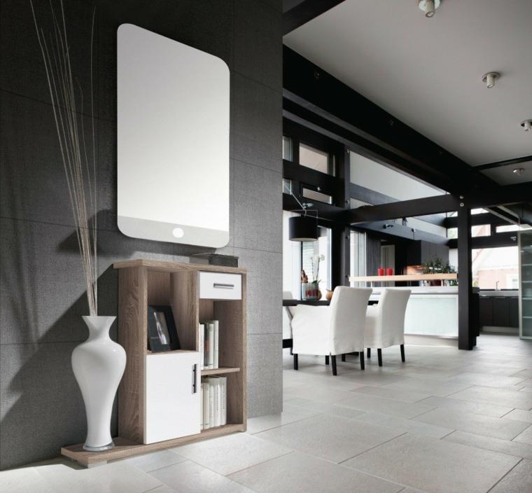 couloirs modernes vases-salles-salles à manger