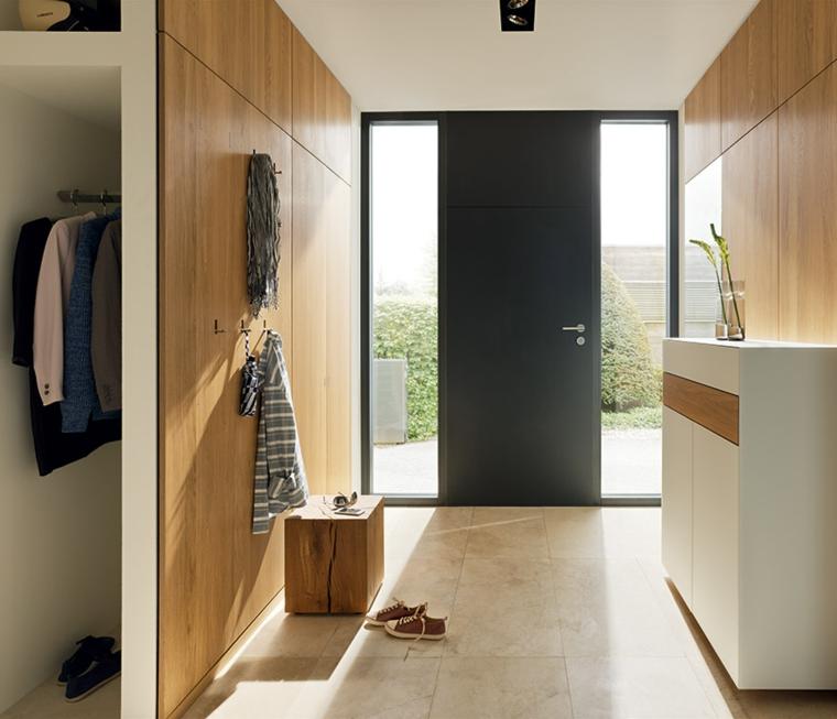 armoires encastrées couloirs modernes