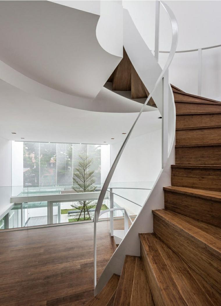 escaliers en colimaçon combiné cascade continuité moderne