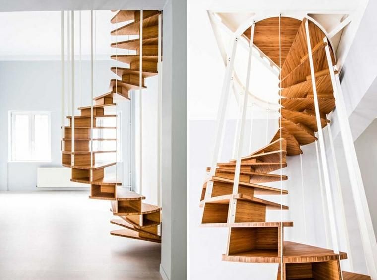 escalier en colimaçon variante idées de bois en métal