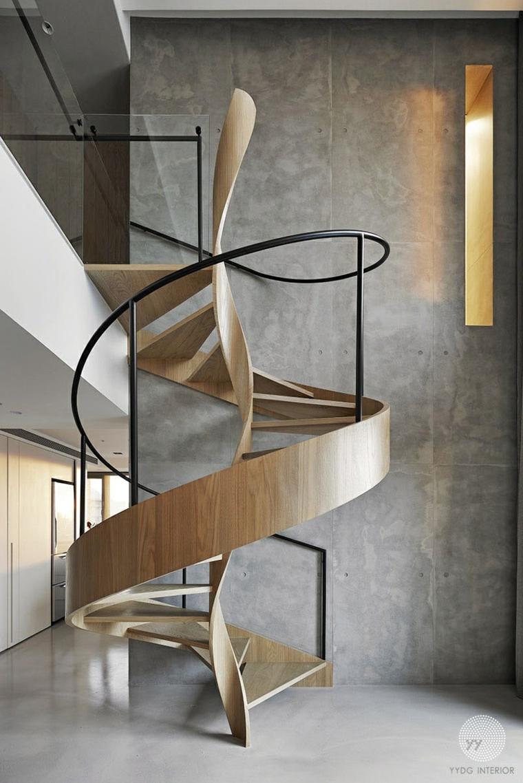 vue de dessus de hauts murs en bois modernes