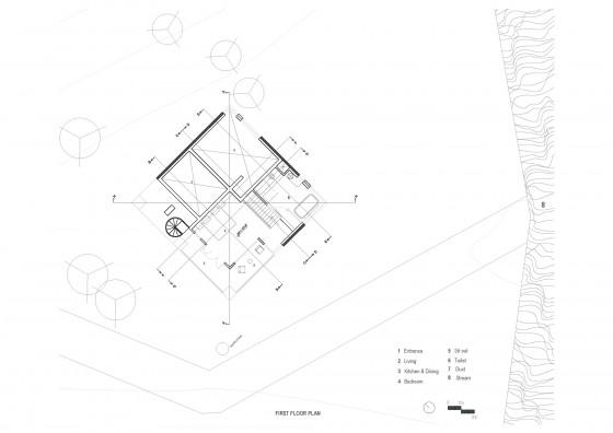 Plan de la maison rurale - Deuxième étage