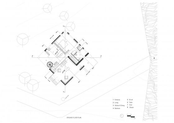 Plan du premier étage de la maison