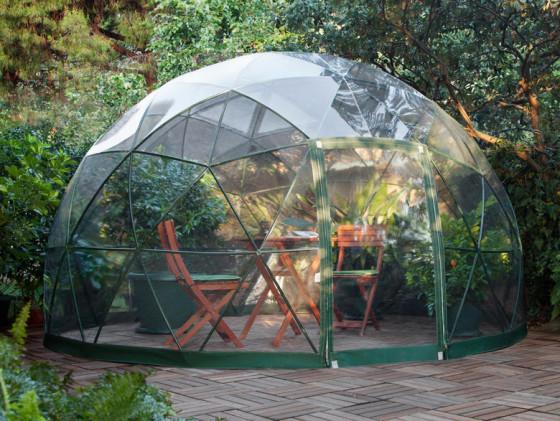 Conception de dôme pour terrasse de jardin