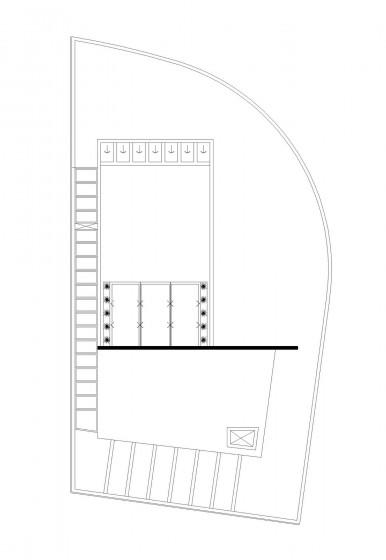 Plan de toit de maison moderne situé dans le coin