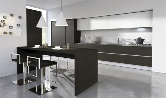 Petite cuisine design noir et blanc