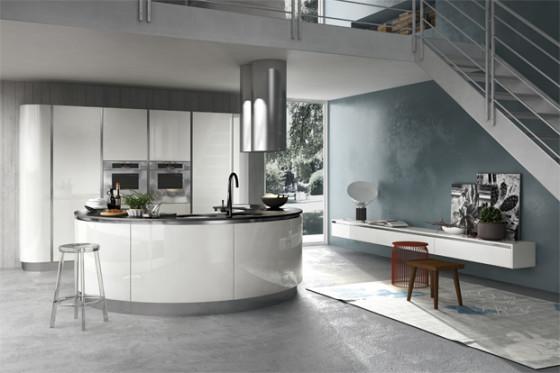 Meubles blancs de conception de cuisine moderne
