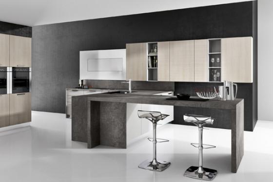 Conception de cuisine moderne pour appartement