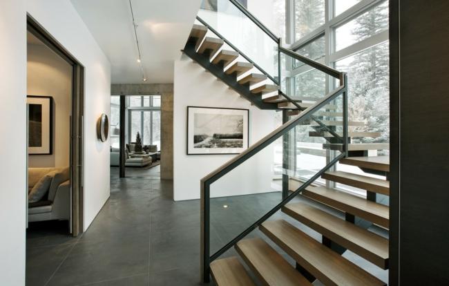 balustrades combinaison bois idées de métaux