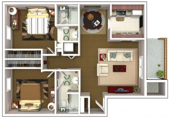 Petite maison 2 chambres