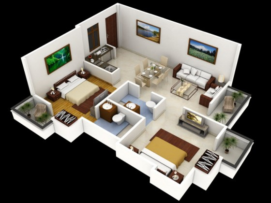 Petit appartement design 2 pièces