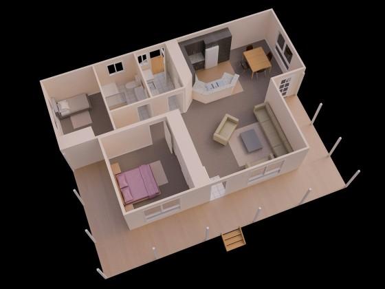 Petite maison de deux chambres 02