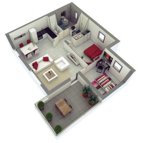 Idées de petites maisons deux chambres