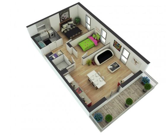 Conception d'appartement moderne