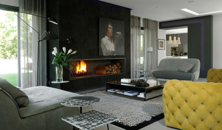 Idées de décoration de cheminée de salon design Claude Cartier