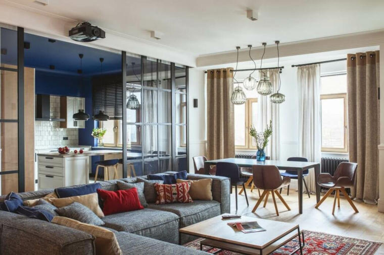 appartement salon idées Oksana Dolgopiatova