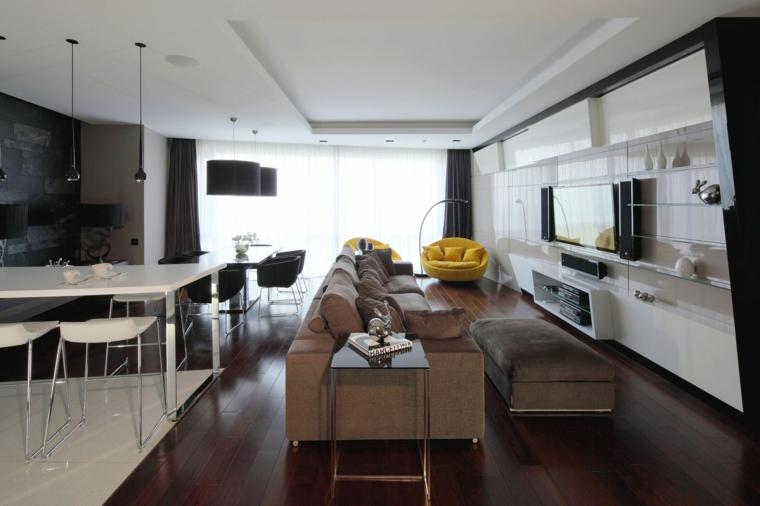 décoration salon appartement design idées Geometrix Design