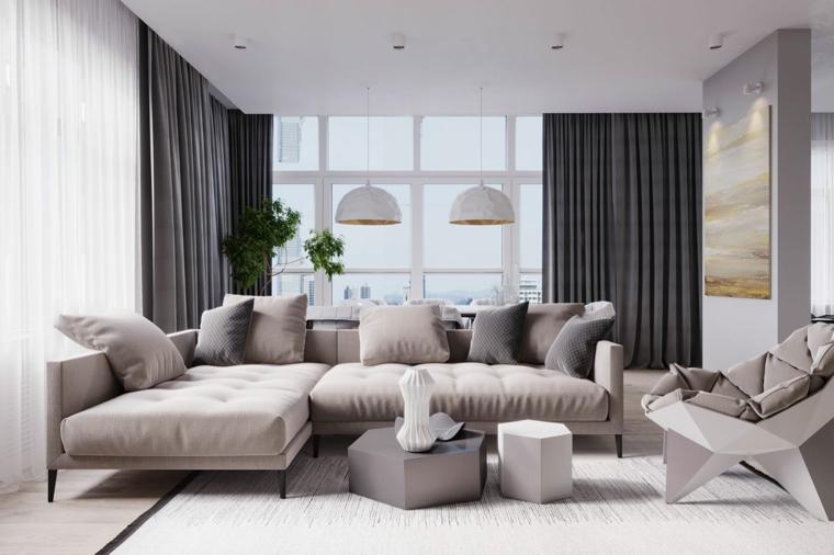 décoration de salon design moderne idées de glissière beige