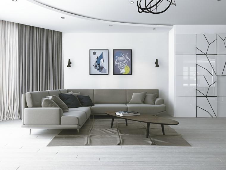 décoration de salon simple design moderne idées Ksenia Vinokurova