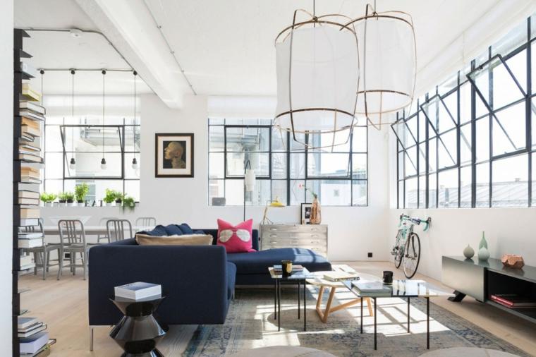 décoration salon canapé bleu design idées Cloud Studios