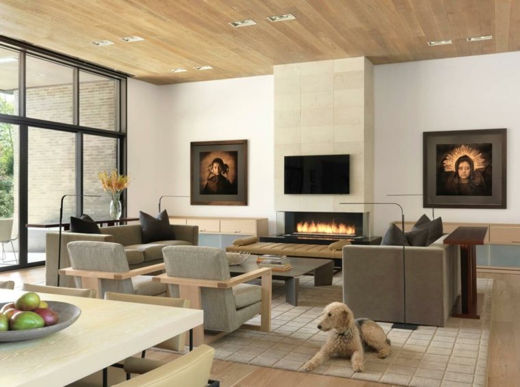 salon design neutre simple Mitchell Wall Architecture & Design ideas