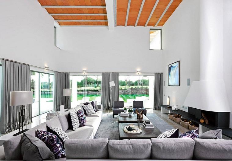 décoration-salon-canapé-large-angle-couleur-gris