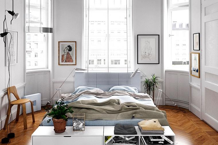 idées de style d'options de conception scandinave de chambre à coucher