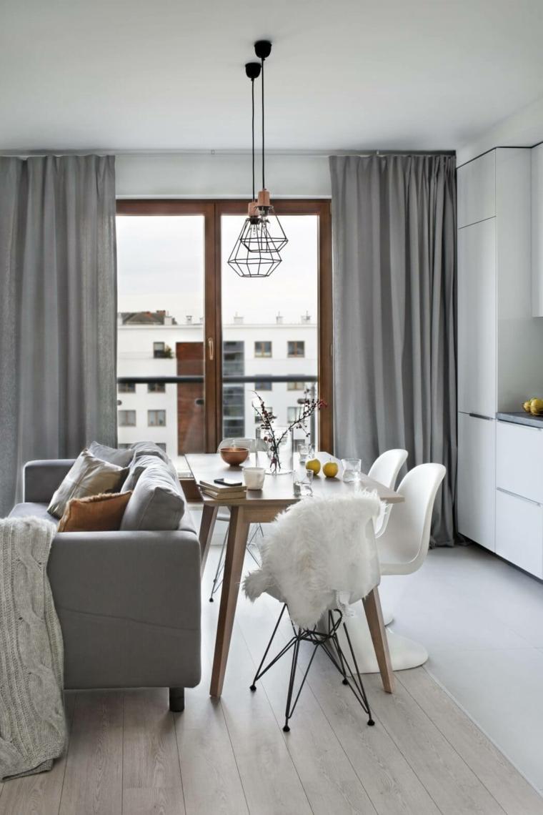Salle à manger appartement design nordique Idées Agnieszka Karas