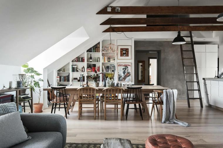 Décoration de salle à manger d'appartement nordique Idées de conception de maisons scandinaves