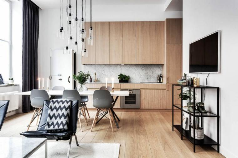 Décoration nordique cuisine appartement Stockholm Stylingbolaget ideas